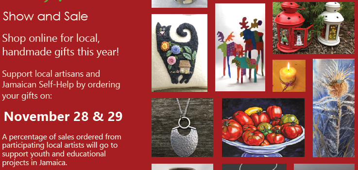 14th annual Artisan Show and Sale – Sat , Nov 28 & Sun, Nov 29, 2020